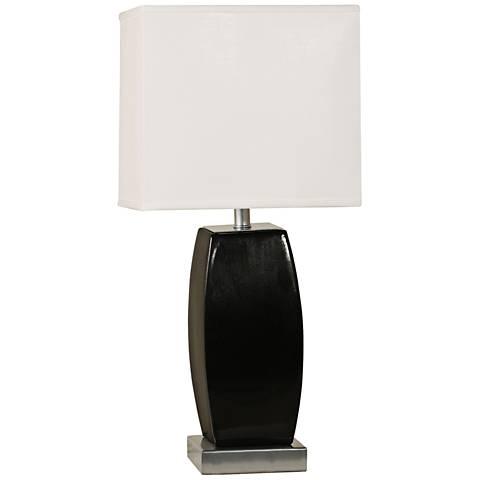 Xera Black Ceramic Convex Rectangular Table Lamp