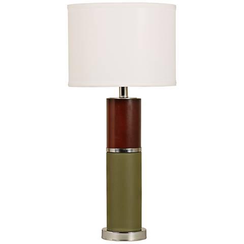Martini Olive Two-Tone Ceramic Column Table Lamp