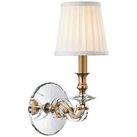 "Lapeer 14"" High Aged Brass 1-Light Wall Sconce"