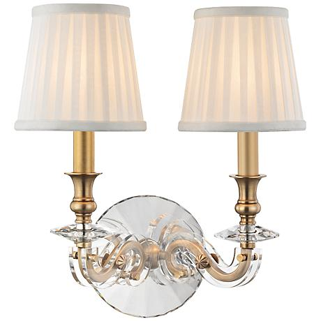 """Lapeer 14"""" High Aged Brass 2-Light Wall Sconce"""