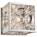 "Hudson Valley Fisher 5"" High Polished Nickel Wall Sconce"