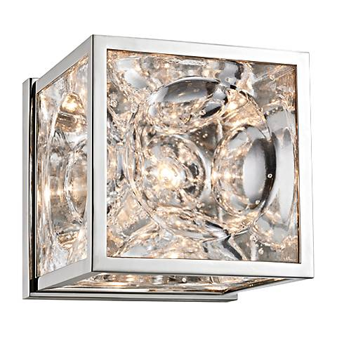 """Hudson Valley Fisher 5"""" High Polished Nickel Wall Sconce"""