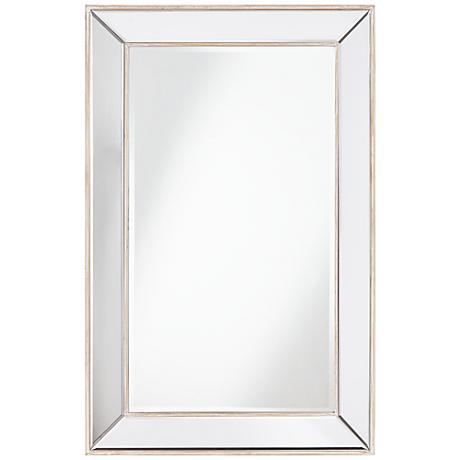 "Lewiston Wood Beveled 26 1/2""x41 1/2"" Wall Mirror"