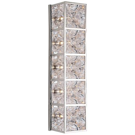 """Hudson Valley Fisher 22 3/4""""H Polished Nickel Wall Sconce"""