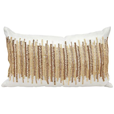 """Kathy Ireland Heart Beat Gold 20"""" Wide Throw Pillow"""