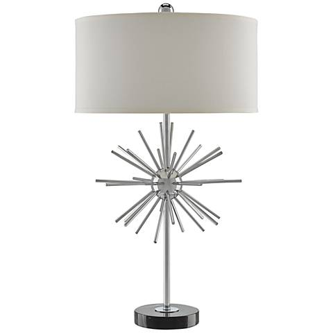 Currey and Company Trendsetter Chrome Table Lamp