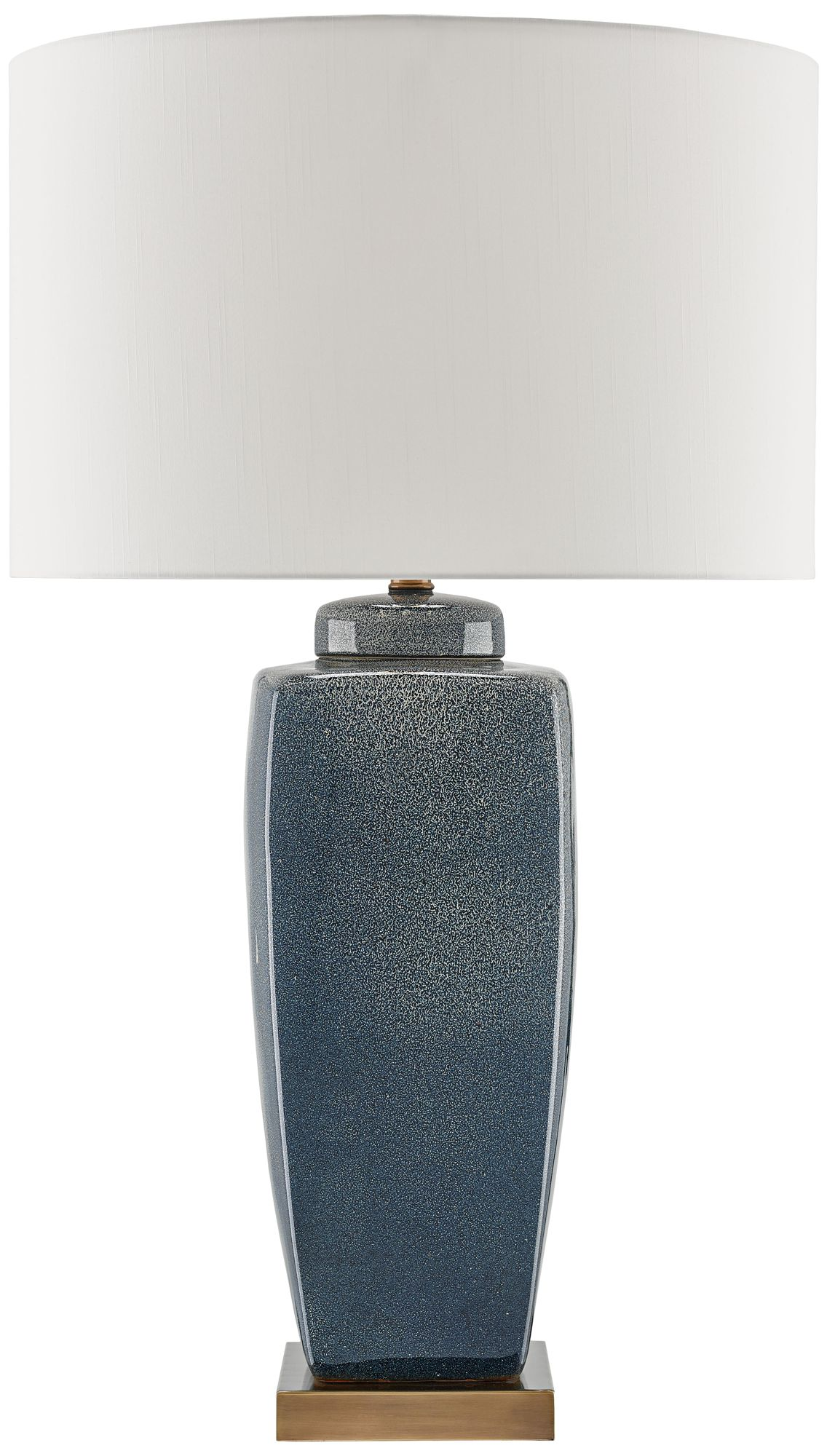 Currey And Company Stardust Blue Speckle Urn Table Lamp