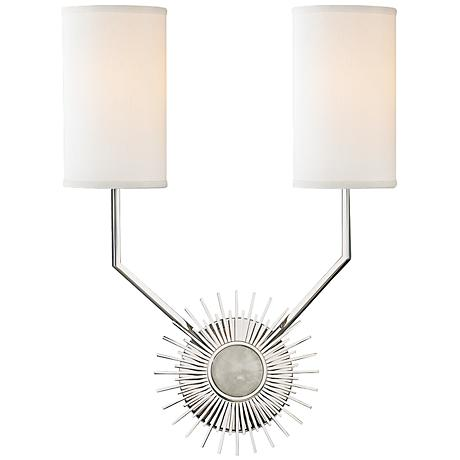 """Hudson Valley Borland 18"""" High Polished Nickel Wall Sconce"""