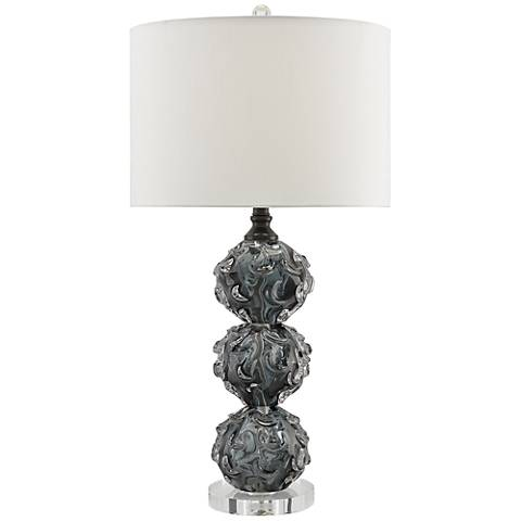 Currey and Company Octave Dark Smoke Glass Table Lamp