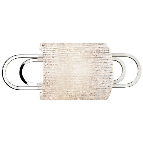 "Hudson Valley Buckley 12 3/4""W Polished Nickel Wall Sconce"