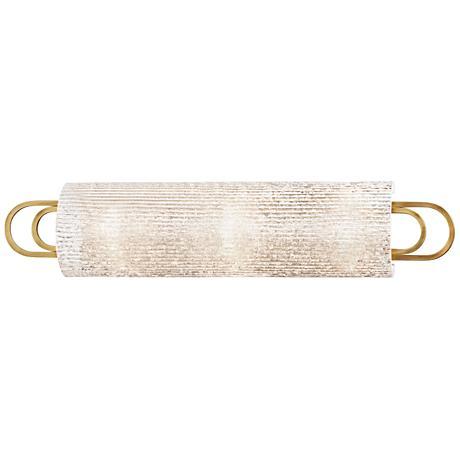 "Hudson Valley Buckley 25"" Wide Aged Brass Bath Light"