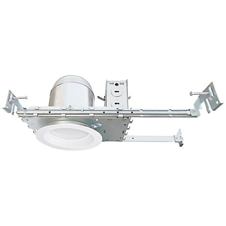 "4"" White Baffle New Construction 10W LED Complete Trim Kit"