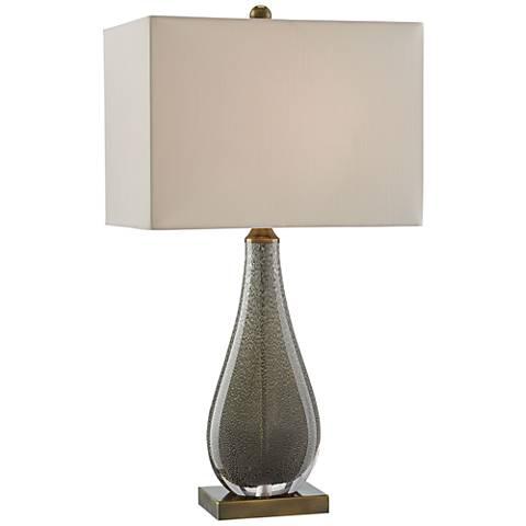 Currey and Company Nightfall Charcoal Glass Table Lamp