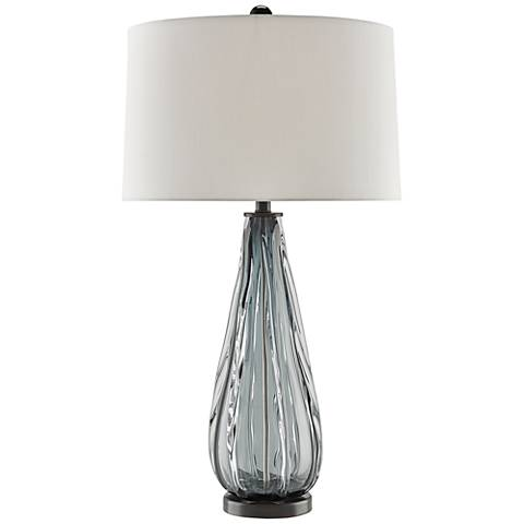 Currey and Company Nightcap Blue-Gray Glass Table Lamp