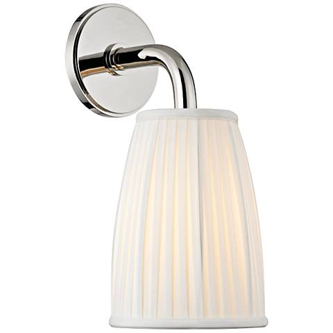 "Hudson Valley Malden 14 1/2""H Polished Nickel Wall Sconce"