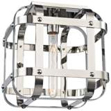 "Colchester 11 3/4"" Wide Polished Nickel Ceiling Light"