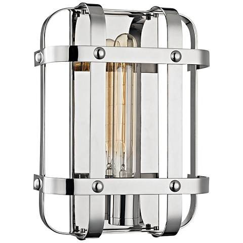 """Colchester 11 1/2"""" High Polished Nickel Wall Sconce"""