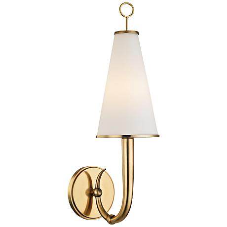 "Hudson Valley Colden 21"" High Aged Brass Wall Sconce"