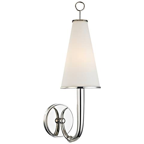 """Hudson Valley Colden 21"""" High Polished Nickel Wall Sconce"""