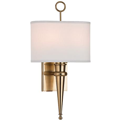 """Hudson Valley Harmony 18 3/4"""" High Aged Brass Wall Sconce"""