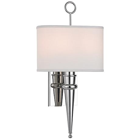 "Hudson Valley Harmony 18 3/4""H Polished Nickel Wall Sconce"