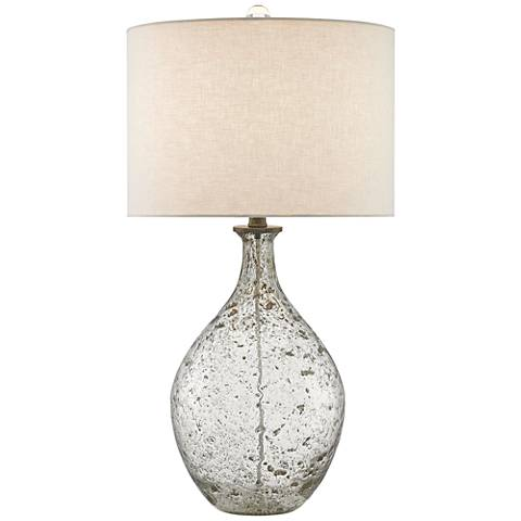 Currey and Company Luc Speckled Glass Jug Table Lamp