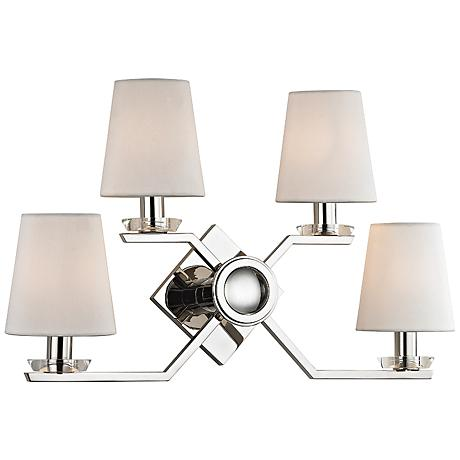 """Hudson Valley Baker 12 1/2"""" High Polished Nickel Wall Sconce"""