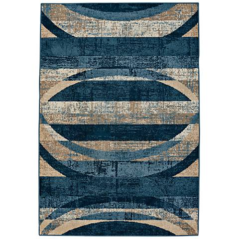 Capel Bethel-Arch Indigo Blue Indoor/Outdoor Area Rug