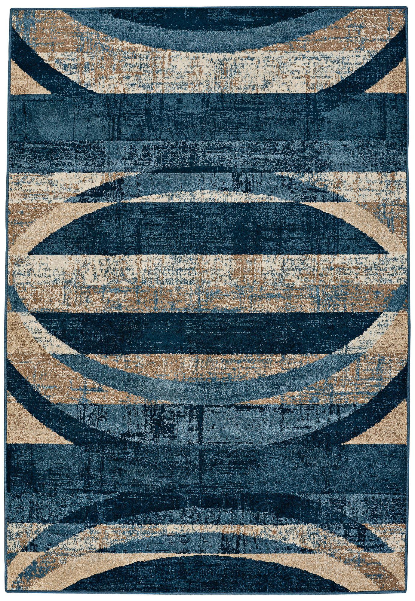 capel bethelarch indigo blue area rug