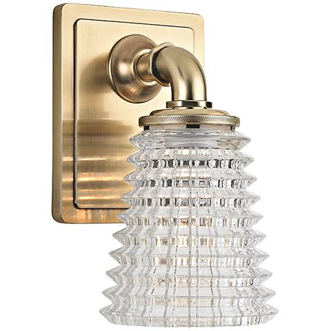 "Hudson Valley Westbrook 8"" High Aged Brass Wall Sconce"