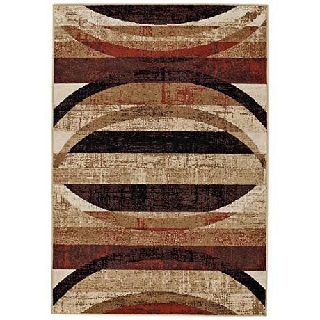Capel Bethel-Arch Multi Brown Indoor/Outdoor Area Rug