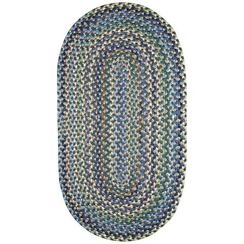 Capel Pristene Azure Blue Braided Area Rug
