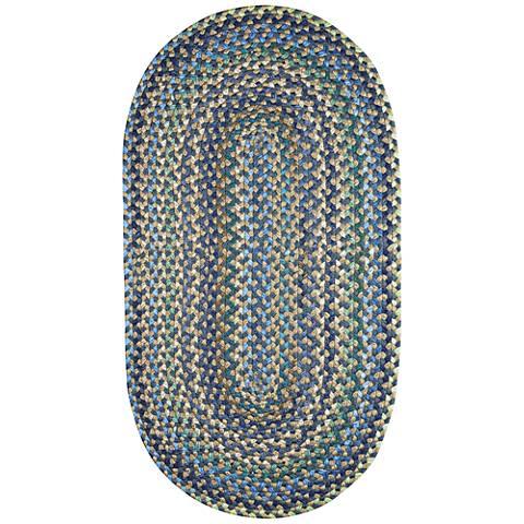Capel Pristene Azure Blue Braided Area Rug