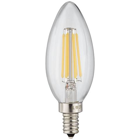 6 Watt LED Torpedo E12 Filament Candelabra Light Bulb
