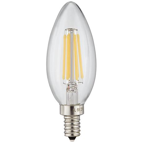 6 Watt LED Torpedo E12 Filament Candelabra Light Bulb