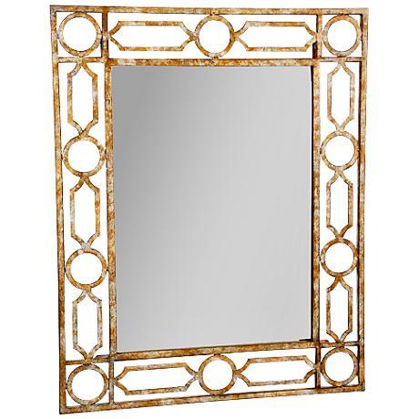 "Clark Gold 24"" x 30"" Rectangle Wall Mirror"