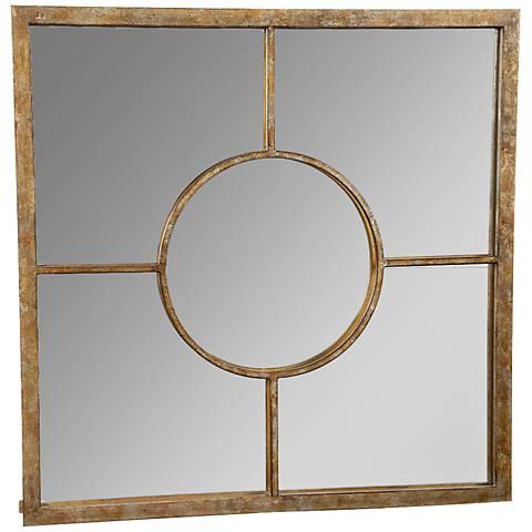 "James Champagne 22"" Square Wall Mirror"