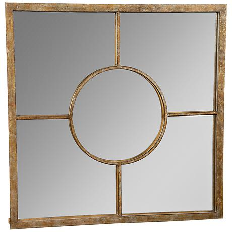 "James Champagne 22"" Square Wall Mirror"