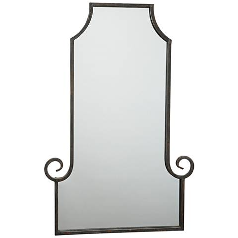 "Marseille Gold and Black 24"" x 36"" Rectangle Wall Mirror"