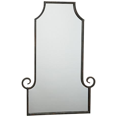 """Marseille Gold and Black 24"""" x 36"""" Rectangle Wall Mirror"""