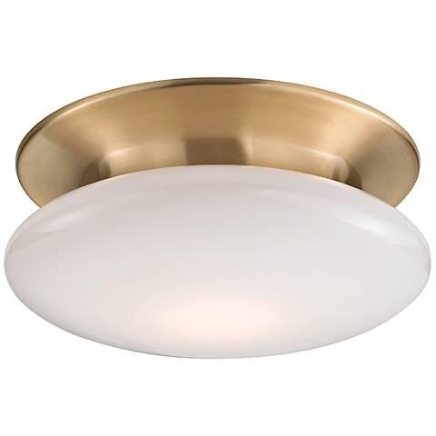 """Hudson Valley Irvington 12""""W Satin Brass LED Ceiling Light"""