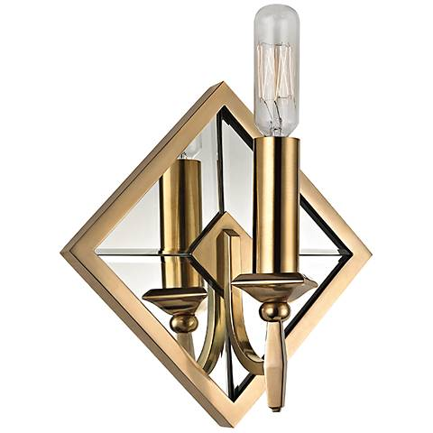 """Hudson Valley Colfax 9 1/2"""" High Aged Brass Wall Sconce"""