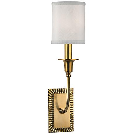 "Hudson Valley Dover 17 3/4"" High Aged Brass Wall Sconce"