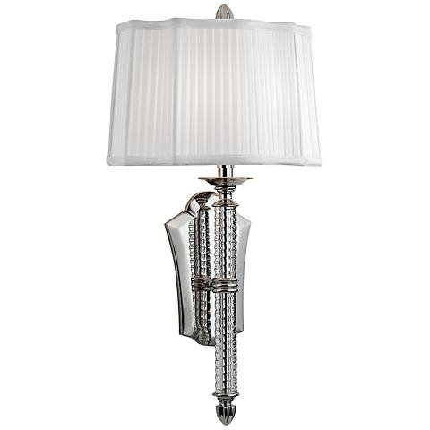 "St. George 24 1/2"" High Polished Nickel Wall Sconce"
