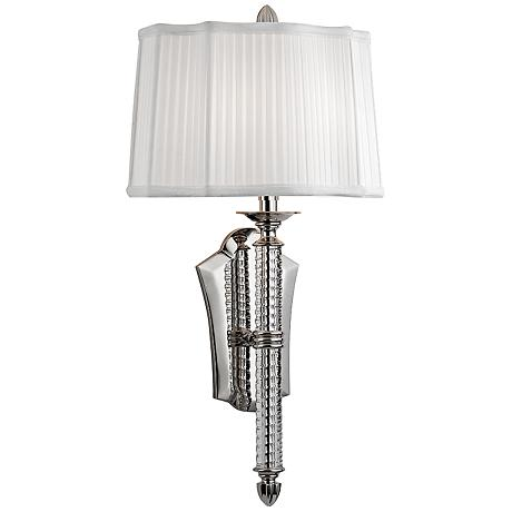 """St. George 24 1/2"""" High Polished Nickel Wall Sconce"""