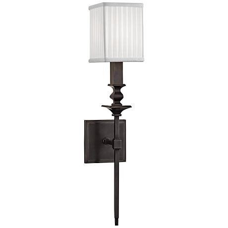 """Hudson Valley Towson 21 1/2"""" High Old Bronze Wall Sconce"""