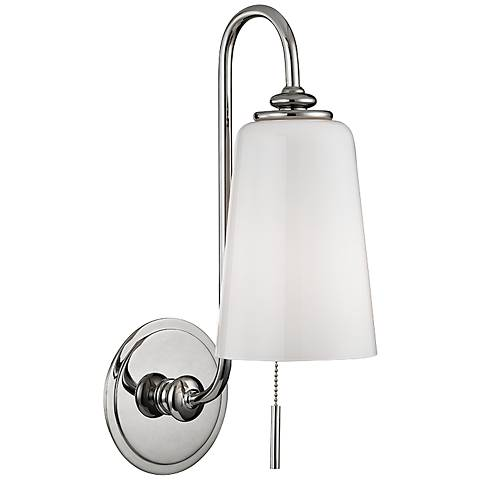"Hudson Valley Glover 16"" High Polished Nickel Wall Sconce"