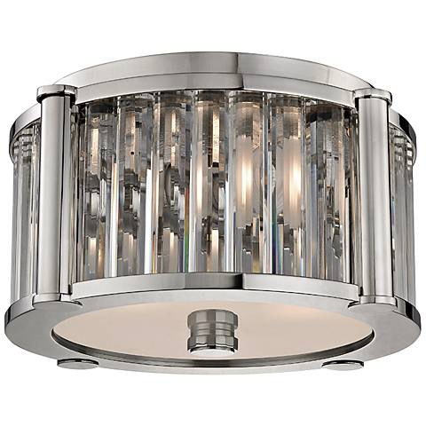 "Hartland 11 3/4"" Wide Polished Nickel Ceiling Light"