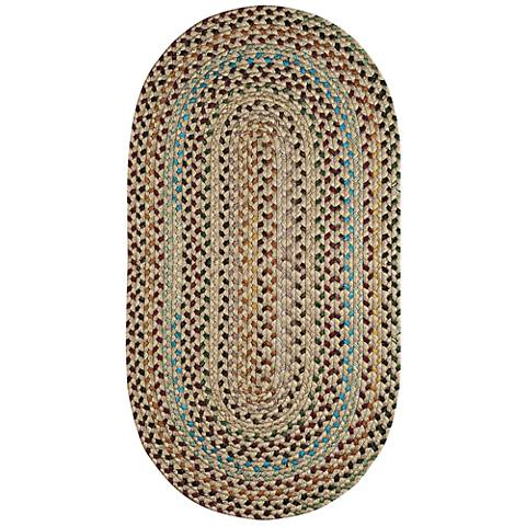 Capel Pristene Buff Tan Braided Area Rug