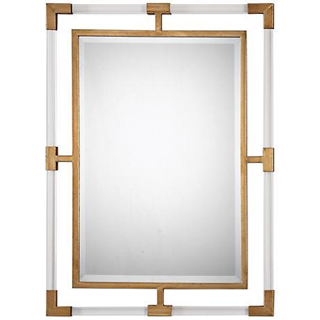 "Uttermost Balkan Antiqued Gold 28"" x 38"" Wall Mirror"